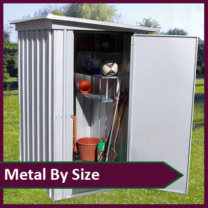 Metal Sheds by Size