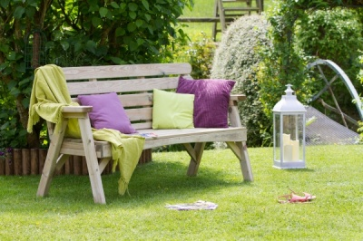 NEW ABBEY 3 SEATER BENCH WOODEN PRESSURE TREATED (1.68 x 0.73 x 0.73m)