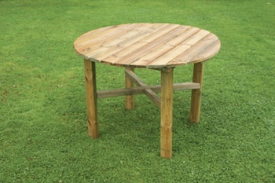 NEW ABBEY ROUND TABLE WOODEN PRESSURE TREATED (1. diaeter x 0.72m)