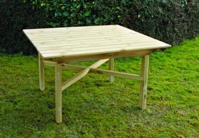 NEW ABBEY SQUARE TABLE WOODEN PRESSURE TREATED (1.2 x 1.2 x 0.74m)