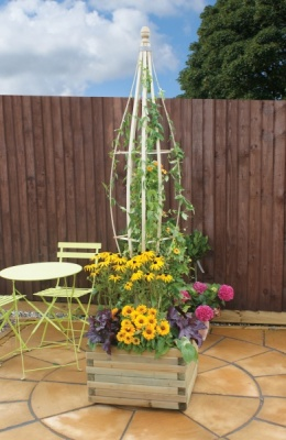 NEW COCOON FLOWERBELL WOODEN PRESSURE TREATED (0.3 x 0.3 x 2.2m)