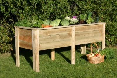 NEW DEEP ROOT PLANTER 1.8M WOODEN PRESSURE TREATED (1.8 x 0.7 x 0.8m)
