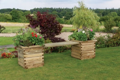NEW ISABEL PLANTER BENCH WOODEN PRESSURE TREATED (1.86 x 0.5 x 0.5m)