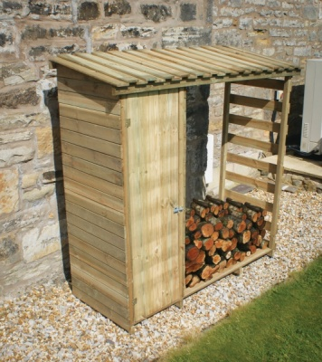NEW LOG AND TOOL STORE WOODEN PRESSURE TREATED (1.87 x 0.7 x 1.9m)