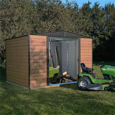 8 x 6 Rowlinsons Woodvale Metal Shed Garden Storage Unit