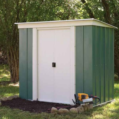 6 x 4 Rowlinsons Metal Pent Garden Storage Shed