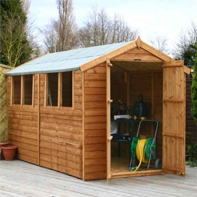 10 x 6 Overlap Apex Wooden Garden Shed