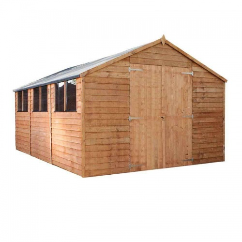 15 x 10 Overlap Apex Wooden Garden Shed Workshop