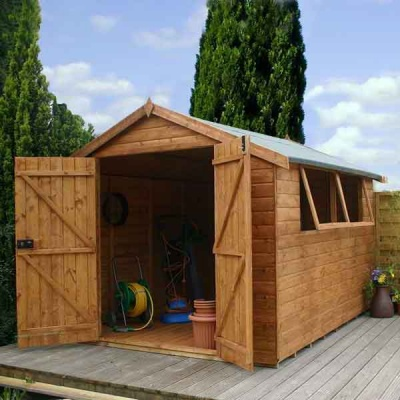 12 x 8 Shiplap Full Tongue & Groove Apex Wooden Garden Sheds