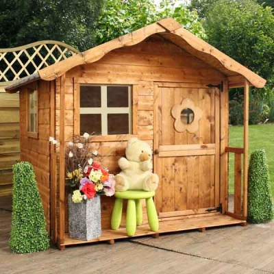 5 x 5 Tulip Playhouse Childrens Outdoor Wooden Play House
