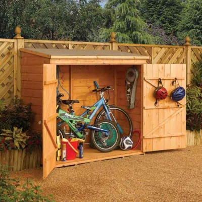 6 x 3 Rowlinsons Wooden Lockable Garden Wallstore