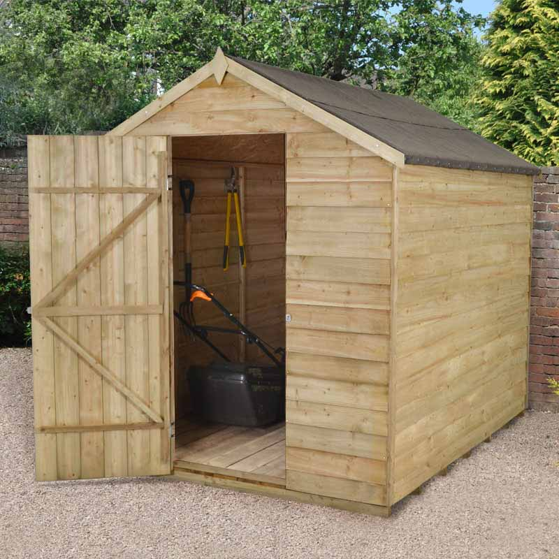 8x6 pressure pre treated windowless wooden apex garden for Garden shed 8x6