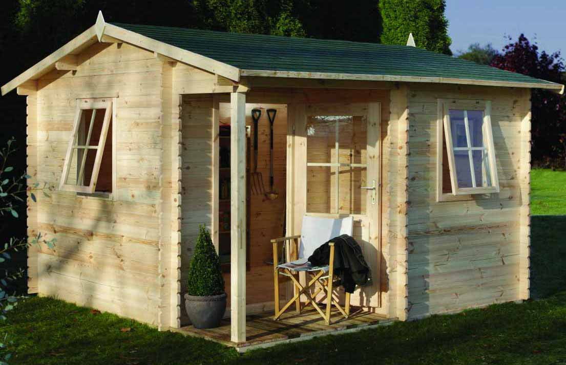 Large Wooden Garden Rooms: 12ft 3.6m X 3.6m LOG CABIN WOODEN OUTDOOR GARDEN ROOM HOME