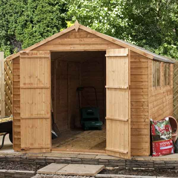 10 x 6 wooden garden shed apex large 10ft x 6ft wood sheds for Garden shed tab