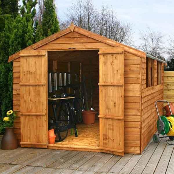 12x8 overlap wooden shed window double door apex roof felt for 12x8 garage door