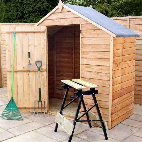 3x6 garden shed apex wooden sheds windowless overlap clad