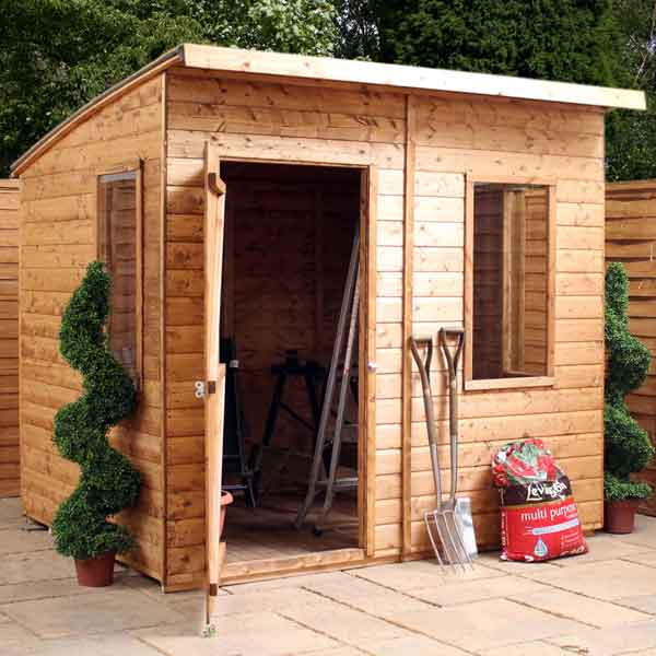 8 x 6 shiplap tongue shed curved roof wooden garden shed