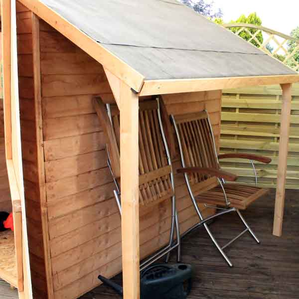 Shed With Log Store Canopy,wood Shed Base,plans To Build An Outdoor Storage  Shed,garden Shed Office Conversion   Good Point