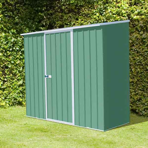 7 x 5 absco space saver metal garden sheds 226m x 152m pale eucalyptus colour