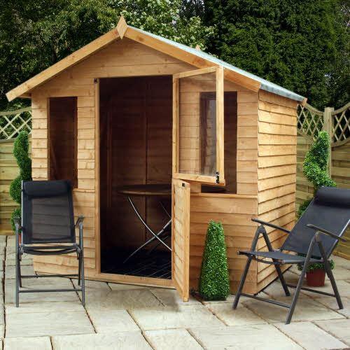 7 x 5 traditional overlap garden summerhouse stable door