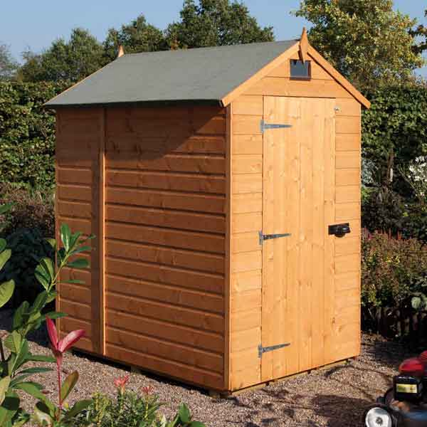 6 x 4 rowlinsons security shed timber garden storage