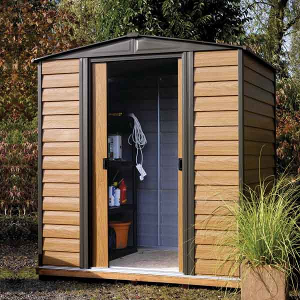 elegant x rowlinsons woodvale metal shed garden storage unit with 4 x 6 garden shed