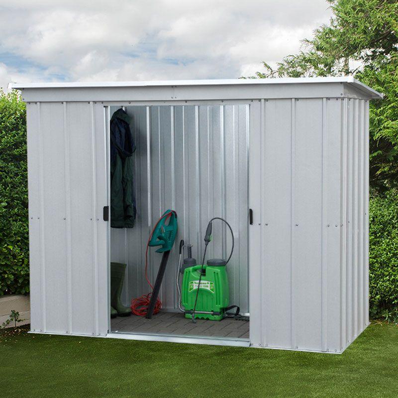 6x4 Metal Garden Sheds Yardmaster Shed 6ft X 4ft Pent