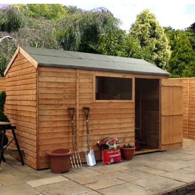 10 x 6 Reverse  Apex Overlap Wooden Garden Shed