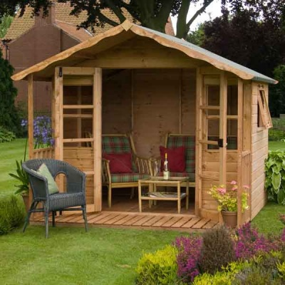 12 x 8 Premium Wooden Tongue and Groove Garden Summerhouse
