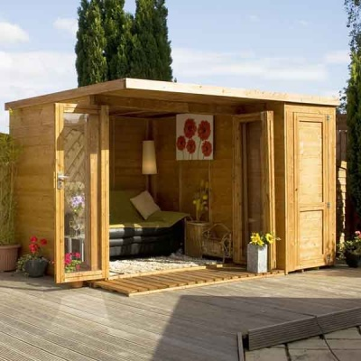 12 x 8 Wooden Garden room Summerhouse with side shed