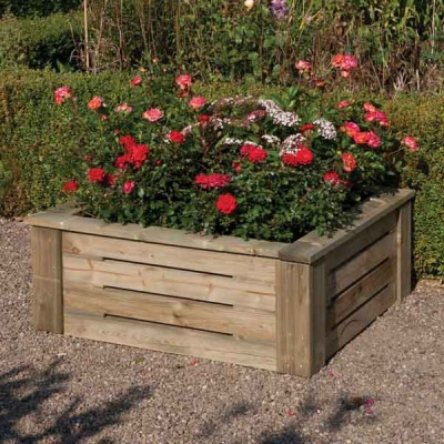 Rowlinsons Wooden  Raised Garden Planter 3ft x3ft