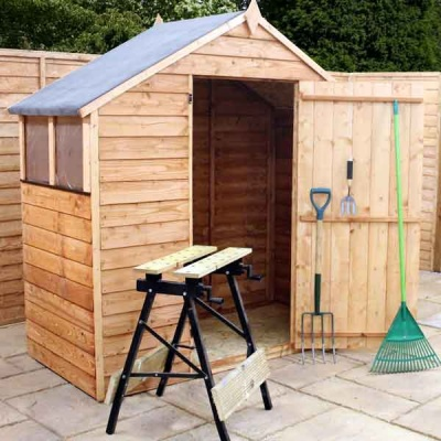 6 x 3 Budget Wooden Overlap Apex Garden Shed