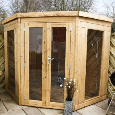 7 x 7 Wooden Garden Corner Summerhouse