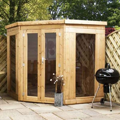 7 x 7 Tongue & Groove Wooden Garden Corner Summerhouse