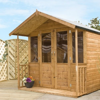 8 x 7 Traditional Wooden Garden Summerhouse