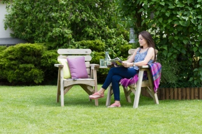 NEW ABBEY COMPANION SEAT WOODEN PRESSURE TREATED (1.75 x 0.89 x 0.73m)