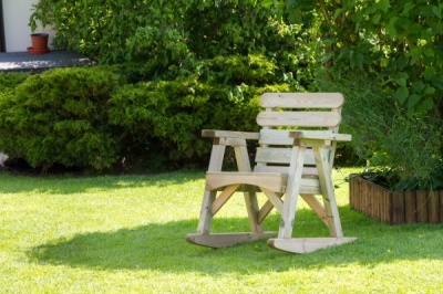 NEW ABBEY ROCKING CHAIR WOODEN PRESSURE TREATED (0.68 x 0.89 x 0.73m)
