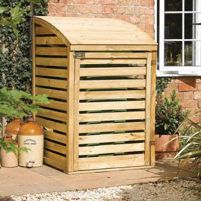 Rowlinsons Single Garden Wheelie Bin Store