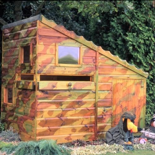 6x4 Wooden Hideout Hatch Play Den