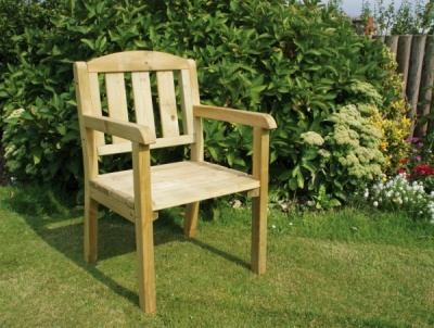 NEW CAROLINE CHAIR WOODEN PRESSURE TREATED (0.63 x 0.63 x 0.94m)
