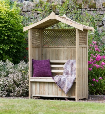 NEW ARBOUR STORAGE BOX WOODEN PRESSURE TREATED 1.568x0.67x1.995m