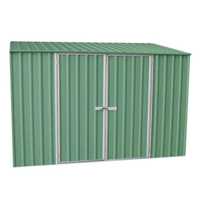 10 x 5 Absco Space Saver Metal Garden Sheds 3m x 1.52m  Pale Eucalyptus Colour