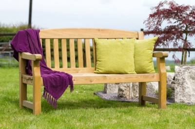 NEW EMILY BENCH 5ft WOODEN PRESSURE TREATED (1.53 x 0.65 x 0.96m)
