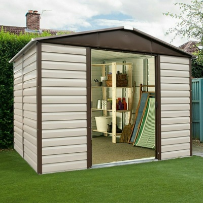 8 x 6 Yardmaster Metal Apex Garden Shed