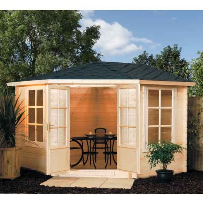10 x 10 Rowlinsons Kestrel  Summerhouse Garden Log Cabin