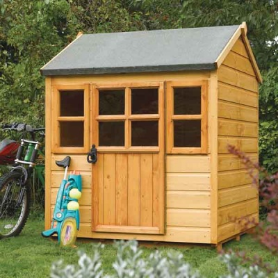 4 x 4 Rowlinsons Single Storey Little Lodge Garden Playhouse