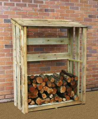 NEW LOG STORE WOODEN PRESSURE TREATED (1.2 x 0.58 x 1.5m)