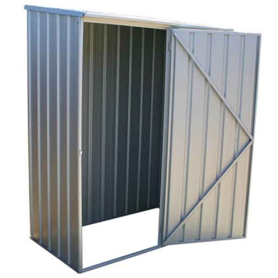 5 x 3 Absco Space Saver Metal Garden Sheds 1.52m x 0.78m Zinc Colour