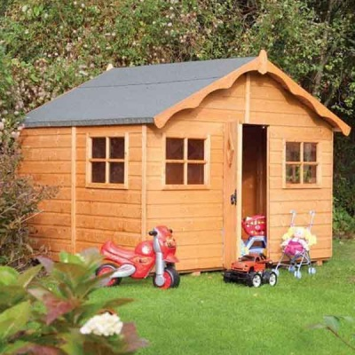 8 x 7 Rowlinsons Playaway Lodge Childrens Wooden Playhouses