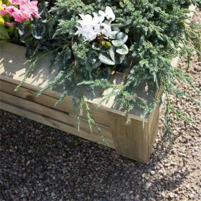 Rowlinsons Raised Wooden Garden Planter 4ftx4ft